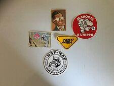 Vintage European stickers 1984 Fiorucci, NewMan, Naf-Naf, Je Shoote A L'Hippo