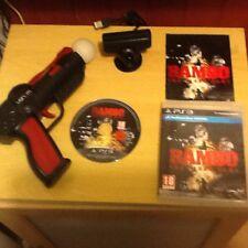 (PS3) rambo game in 1 PlayStation 3 move controller  gun  Camera  a Rambo party