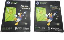 "HP Everyday Glossy Inkjet Photo Paper (8.5"" x 11"") 50/pk Sealed Lot of 2"