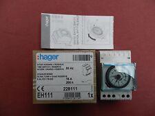 Réf EH111 HAGER INTERRUPTEUR HORAIRE ANALOGIQUE SUR 24H 230V NEUF