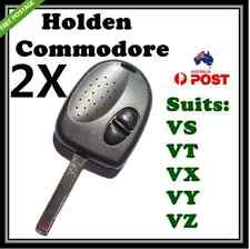 2X 2 BUTTON REMOTE KEY CASE SHELL SUIT HOLDEN COMMODORE VS WH WK WL VT VX VY VZ
