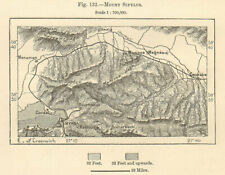 "Mount Yamanlar & Izmir (Smyrna). ""Mount Sipylus"". Turkey. Sketch map 1885"