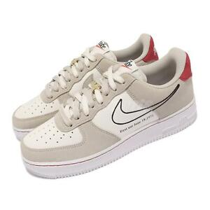 Nike Air Force 1 07 LV8 First Use AF1 Light Stone Sail White Red Men DB3597-100