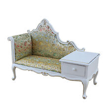 Miniature 1:6 Scale Doll Furniture Handmade Classical Fabric Telephone Chair