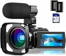 4K Video Camera Camcorder Vlogging Camera for YouTube Rosdeca Ultra HD 48.0MP Wi