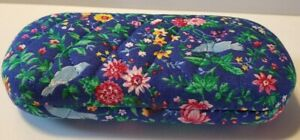 VERA BRADLEY Hard Eyeglass Case - Quilted Soft - Floral W Blue Birds