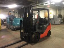 2011 Toyota 3000 Lb Solid Pneumatic Forklift With Side Shift and Triple mast