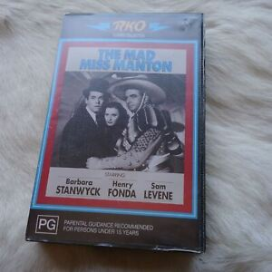 RKO THE MAD MISS MANTON VHS Video Tape ROMANCE Comedy MYSTERY Crime FICTION
