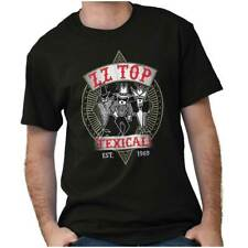 80s Rock Band Zz Top Texicale Album Vintage Adult Short Sleeve Crewneck Tee