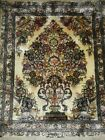 Silk Rug from Hereke, Turkey (929 KPSI) woven by the Ozipek family 32×24icnhes