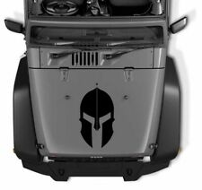 Spartan Gladiator Helmet Matte Black Blackout Hood Vinyl Decal Sticker