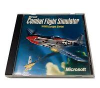 Vintage Microsoft Combat Flight Simulator WWII Europe Series PC CD-ROM Game