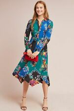 New Anthropologie Floral Patchwork Shirtdress by Maeve.size 6
