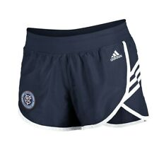 New York City FC MLS Adidas Women's Navy Blue 3-Strie Woven Shorts
