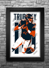 MITCHELL TRUBISKY art print/poster CHICAGO BEARS FREE S&H