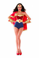 Sexy Adult Halloween Party King Women's Wonderful Babe Superhero Costume