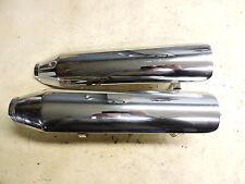 13 Harley Davidson Fatboy Fat Boy FLSTF muffler pipe exhaust heat shields cover