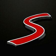 MINI Cooper Emblème « S » Insigne Coffre Hayon Logo METAL chromé 4 cm Cabrio