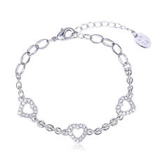 PURE BY COPPERCRAFT SWAROVSKI HEART DIAMANTE BRACELET  - PERFECT GIFT
