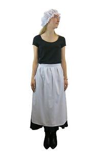 Maids Fancy Dress Costume - Victorian Edwardian Dress up - Add Mop Hat  UK Stock