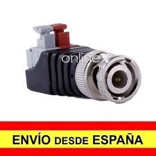 Adaptador Conector CCTV Macho BNC COAXIAL TIPO RF a Enchufe Rapido a4091