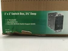 Steel City Electrical Switch Box With 12 In Conduit Knockouts Cy12 25r Case 25