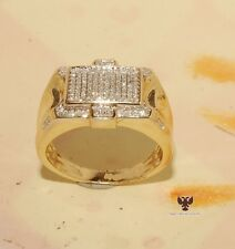 Men's Jewelry D/VVS1 Diamond Wedding Band Round Pinky Ring in 14K Yellow Gold