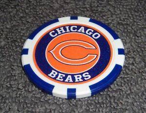 NFL CHICAGO BEARS SOUVENIR COLLECTIBLE POKER CHIP GOLF BALL MARKER