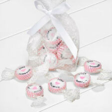 NEW PINK & WHITE JUST MARRIED ROCK SWEETS STRAWBERRIES & CREAM WEDDING FAVOUR