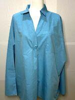 Misslook Women's Aqua Cotton/poly Blend Tunic Size 4X