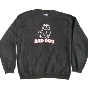 Vintage Polar Dogs Bad Dog Fleece Crewneck Sweatshirt Mens Medium Black
