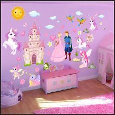 Fairies Princess Children's Bedroom Playroom Nursery Wall Stickers Decal Art 132 L 150cm/42cm