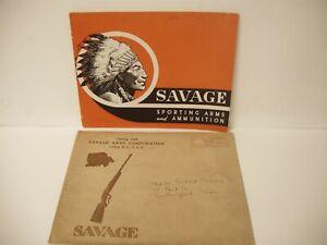 Rare Original 1939 SAVAGE Sporting Arms AMMUNITION Catalog w/ Envelope