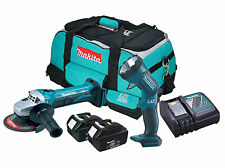 Makita BGA452 - 2x BL1830 - 1x DC18RC - 1x LXT400 Heavy Duty Bag - 1x BML185