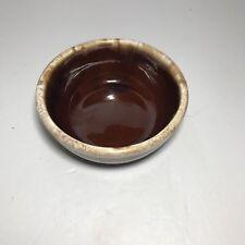 """McCoy pottery 7016 BROWN DRIP Glaze Soup Cereal Bowl  USA 5"""" USA"""