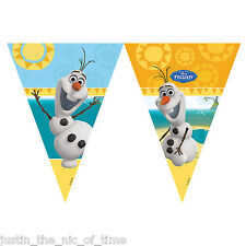 9ft Disney Frozen Bunting Flags Featuring Summer Olaf