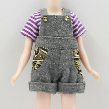 "Takara 12""Blythe Doll Gray Suspender Trousers+T-shirt"