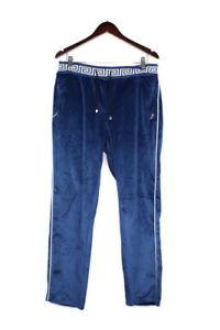 Barabas Mens Velvet Pants Size XL Blue White Zip Pocket
