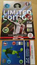 Panini Adrenalyn XL EM Euro 2016 Limited Edition XXL Card Lewandowski Shiny