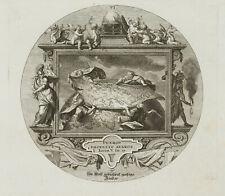 PROBST(*1721), Emblem, Streitende Feldherren mit Weltkarte, Juvenal, KSt