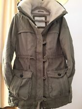 Abercrombie And Fitch Womens Jacket Coat Fleece Lined Size Small New With Tags