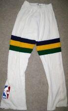 Nba Sand Knit Utah Jazz Game Used Pants 34 Jersey Uniform White #20 Bobby Hansen