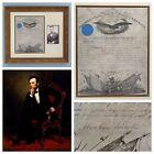 1862 Abraham Lincoln RARE Autograph MANUSCRIPT Signed CIVIL WAR Photograph U.S.