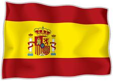 "Spain Country Flag Car Bumper Window Mirror Sticker Decal 5""X4"""