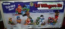 Vintage Wee Crafts Accents Unlimited painted Lil Villagers Kit 6 pc #21515 w/box