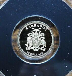 10 Dollar Gold - Münze Barbados 2019 , 999 / 1000 Feingold