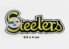 NFL Steelers Title Embroidered Iron/ Sew on Patch/ Badge/ Logo