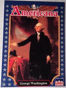 FUN EDUCATIONAL FACTS 1992 Americana Trading Card President George Washington 10