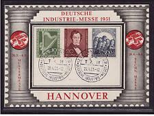 Berlin, 72+73+74, Philharmonie und Lortzing, Sonderkarte Hannover 1951 (21367)