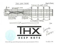 THX LOGO THEME SCORE LIMITED-EDITION SIGNED EMBOSSED PRINT JAMES MOORER DEEPNOTE